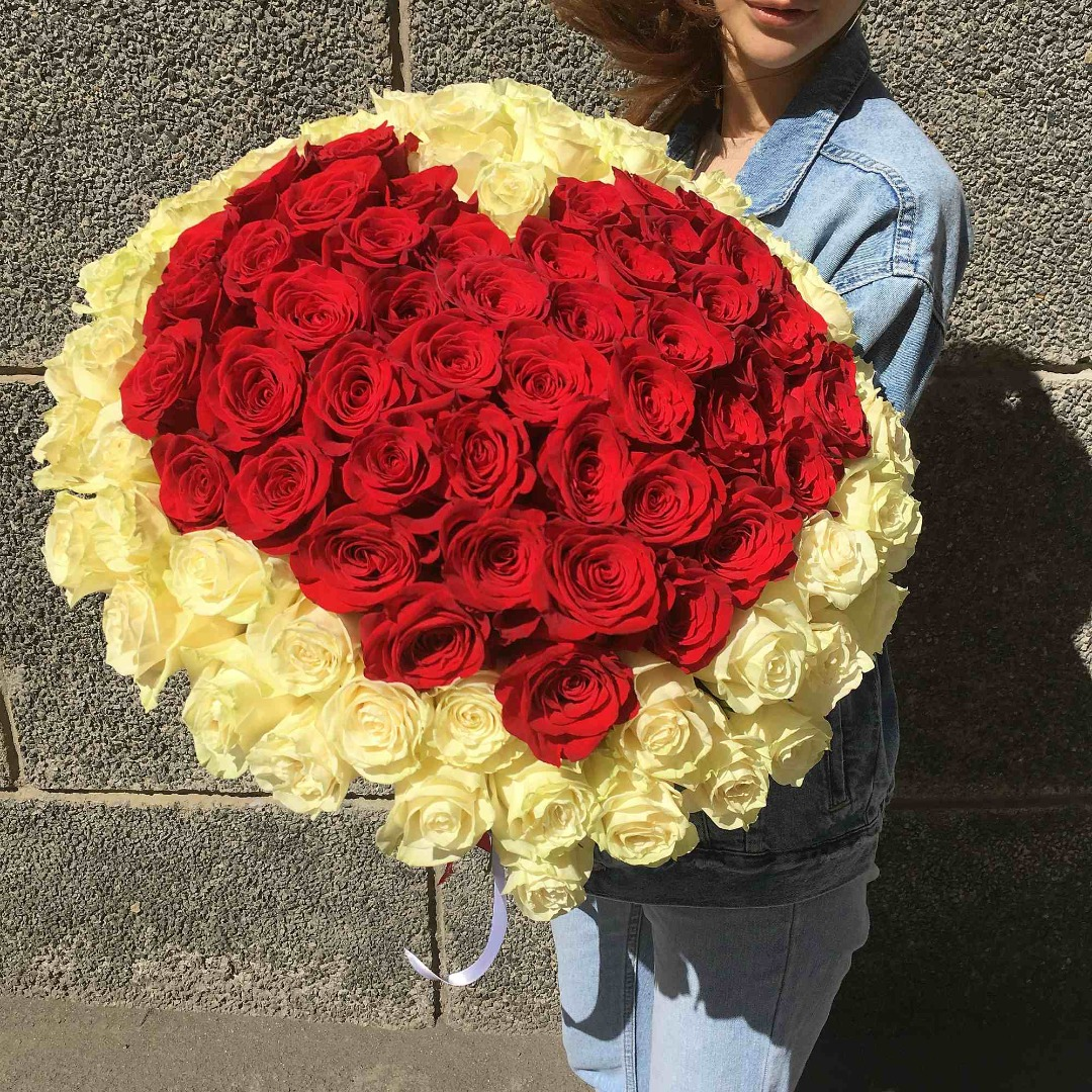 101 роза в челябинске, букета
